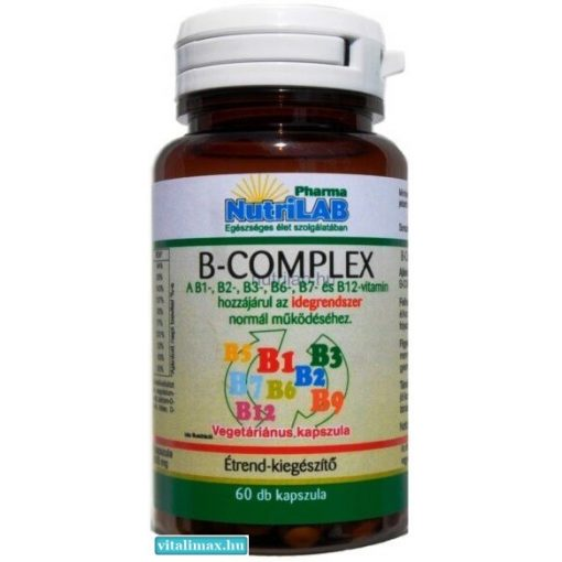 NUTRILAB B-COMPLEX VEGA KAPSZULA - 60 db