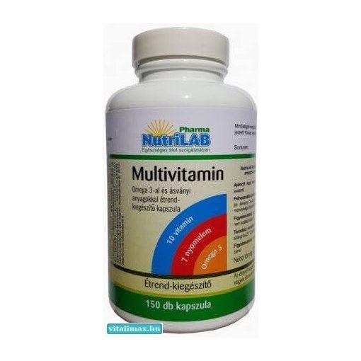 NUTRILAB MULTIVITAMIN OMEGA 3-AL KAPSZULA - 150 db