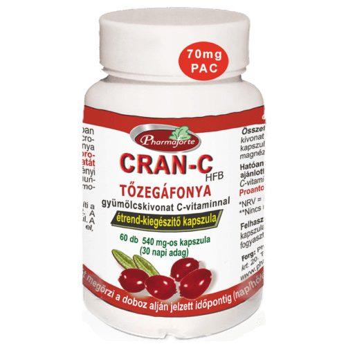 Pharmaforte CRAN C Tőzegáfonya - 60 db