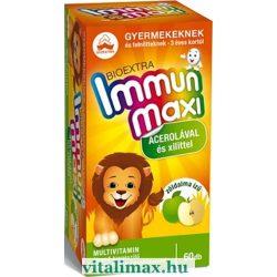 BIOEXTRA Immun maxi zöldalma ízű multivitamin - 60 rágótabletta