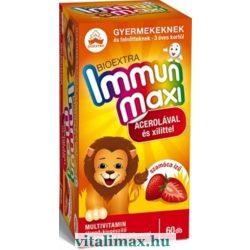 BIOEXTRA Immun maxi szamóca ízű multivitamin - 60 rágótabletta