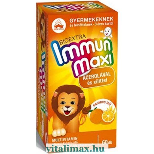 BIOEXTRA Immun maxi narancs ízű multivitamin - 60 rágótabletta