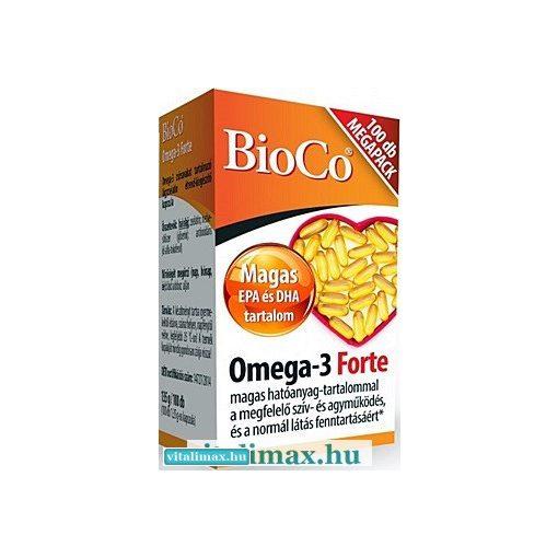 BioCo Omega-3 Forte kapszula Megapack - 100 db
