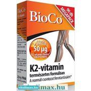 BioCo K2-vitamin 50 µg tabletta - 90 db