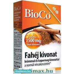 BioCo Fahéj kivonat tabletta - 60 db