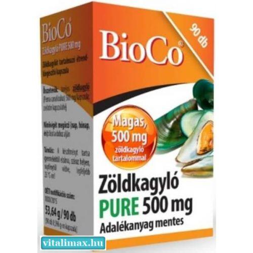 BioCo Zöldkagyló PURE 500 mg - 90 db