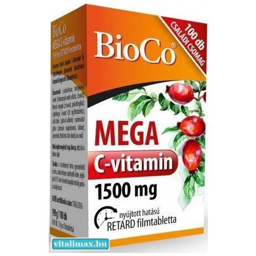 Bioco mega c-vitamin 1500 mg -100 db