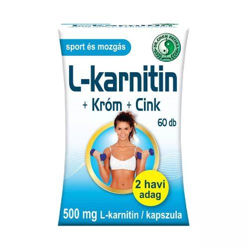 Dr. Chen L-Karnitin+Króm+Cink - 60 db