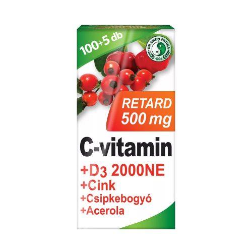 Dr. Chen C-vitamin 500mg Retard+D3+Acerola - 105 db