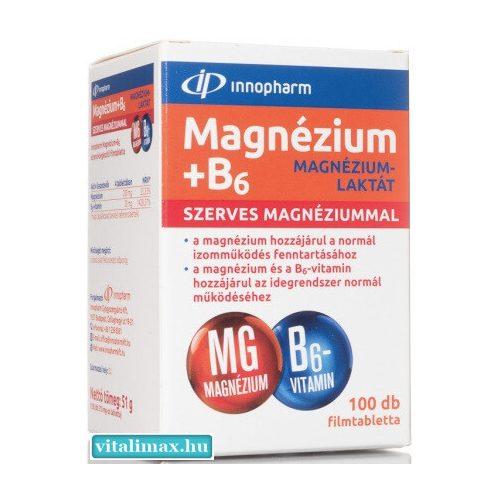 InnoPharm Magnézium + B6-vitamin - 100  db