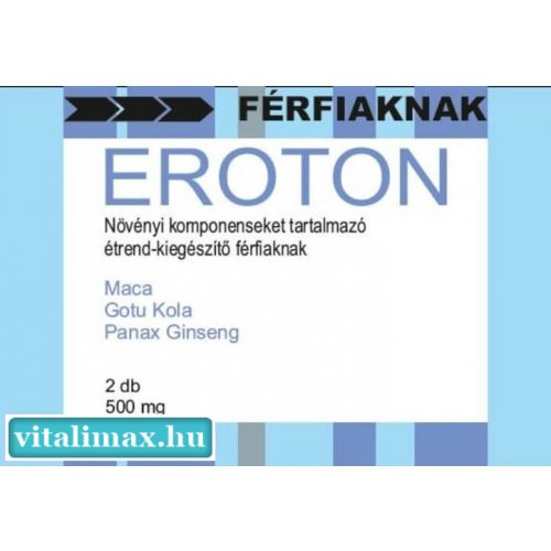 EROTON ultra potencianövelő - 2 kapszula