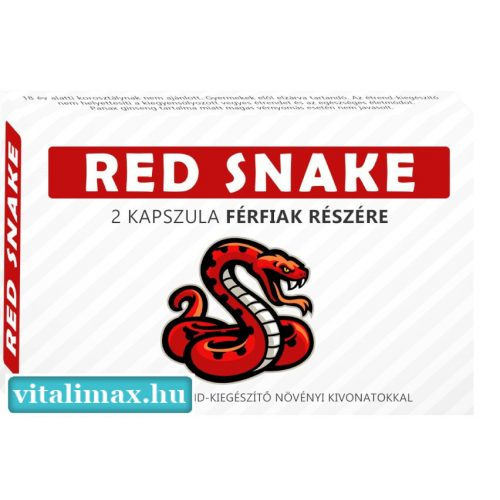 RED SNAKE potencianövelő - 2 db kapszula