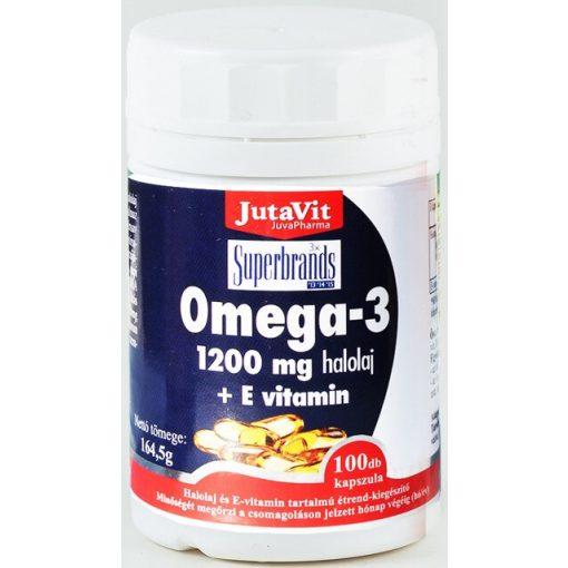 JutaVit Omega-3 1200 mg halolaj + E-vitamin kapszula - 100 db