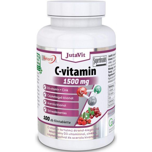 JutaVit C-vitamin 1500 mg + CSIPKEBOGYÓ + ACEROLA KIVONAT - 100 db