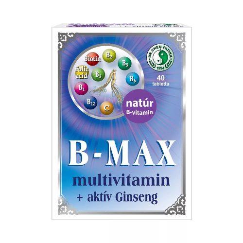 Dr. Chen B-Max multivitamin + aktív Ginseng tabletta - 40 db