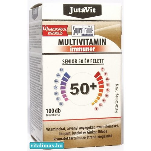 JUTAVIT MULTIVITAMIN IMMUNER 50+ - 100 DB