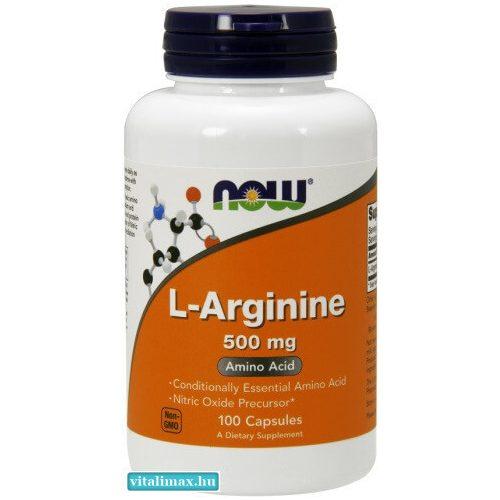 NOW L-Arginine 500 mg - 100 db