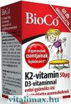 BioCo K2-vitamin 50 µg D3-vitaminnal rágótabletta gyermekeknek - 60 db